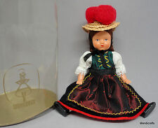 Wohlleben Souvenir Doll 6in Black Forest Germany String Jointed Ethnic Costume