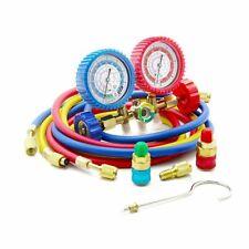 Manifold Gauge Diagnostic Kit Ideal For R134A, R12, R22, R502 Refrigerants 5FT