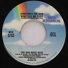 Country 45 The Oak Ridge Boys - Sometimes The Rain Won'T Let Me Sleep / Dream On