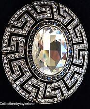 Heidi Daus Art Deco Greek Key Brooch from Collector's Edition Brand New