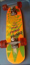 VTG OLD SCHOOL NASH PARK SKATEBOARD RETRO orange BOARD PRIMO WHEELS 80'S NEON