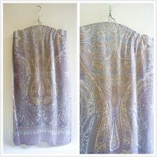 Classy 100% pure silk paisley print women men scarf gray & yellow P702336