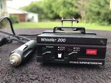 Whistler 200 Double Superheterodyne Radar Detector Vintage USED!!