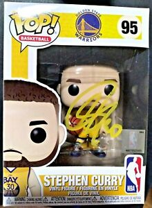 STEPHEN CURRY 30 STEPH SIGNED AUTOGRAPHED FUNKO POP VINYL TOY 95 EXACT PROOF PIC