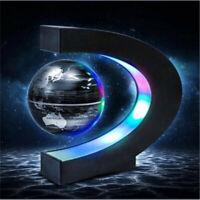 Shape C Magnetic Levitation Floating Globe Map LED Light Home Decoration