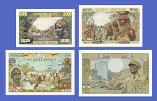 AFRICA EQUATORIALE - Lots of 4 notes - 500-->10000 Francs - Reproductions