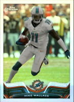 2013 Topps Chrome - MIKE WALLACE #156 refractor - Miami Dolphins