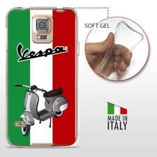 Samsung Galaxy S5 TPU CASE COVER GEL PROTETTIVA TRASPARENTE VINTAGE Vespa Italia