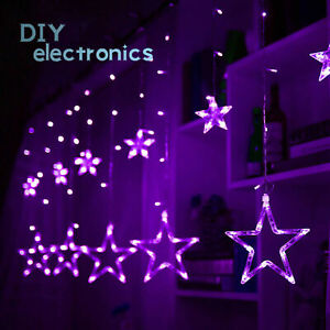 138 LED Twinkling Star Fairy String Lights Curtain Window Wedding Party Decor US