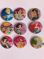 NEW DISNEY PRINCESS BADGES (9 PACK)~PARTY BAG FILLERS/GIFTS/PRIZES