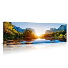 Bild auf Leinwand 120 x 40 cm sonniger See Wandbild Marke Visario