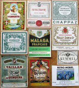 Vintage Wine & Liquor Bottle Labels 50 DIFFERENT 1920s-30s-GROUP 2 - Cognac/Port