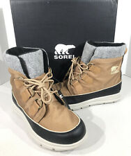 Sorel Explorer Carnival Women's Size 8.5 Brown Lace Up WP Snow Boots X2-210
