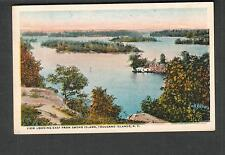unmailed post card view looking east from Smoke Island Thousand Islands NY