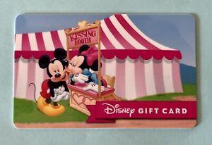 WALT DISNEY MICKEY AND MINNIE KISSING BOOTH DISNEYLAND GIFT CARD