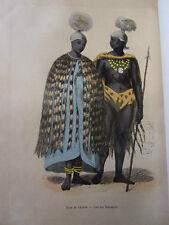 COSTUME AFRIQUE / Reine de Likatou-Chef des Maroutzis 1847 rehaussée de couleurs