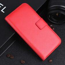Samsung Galaxy A5 (2017) Handy Tasche Echt Leder Book Klapp Etui Cover Hülle Rot