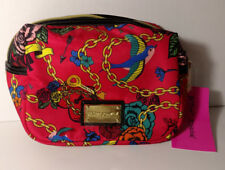 NWT Betsey Johnson Key to My Heart Berry Cosmetic Case
