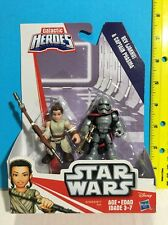 PLAYSKOOL GALACTIC HEROES REY (JAKKU) & CAPTAIN PHASMA *SHIPS WORLDWIDE*