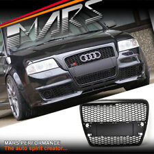 Black RS Style Bumper bar Grille Grill for AUDI A6 4F 05-11 with Radar Holes
