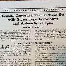 Marx Train Set Instructions Copies 5 Pages 4 Big Rail Work Train copy Free Shipn