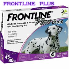 New listing Frontline Plus for Dogs Large Dog 45 to 88 pounds Flea and Tick Treatment 3-Dose