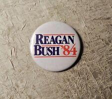 RONALD REAGAN & GEORGE BUSH 1984 PRESIDENTIAL CAMPAIGN PIN ORIGINAL