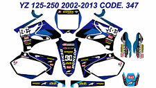 347 YAMAHA YZ 125-250 2002-2013 Autocollants Déco Graphics Stickers Decals Kits
