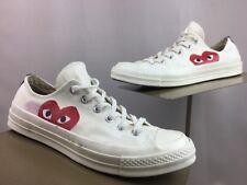 CONVERSE X COMME DES GARCONS PLAY Chuck Taylor '70 Low White Shoes Mens 7/WO 9