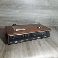 READ Vintage Sony Digimatic Alarm Clock AM FM Radio TFM-C770W CLOCK STUCK