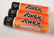 3pc Savex Lip Balm stick or Dry Chapped Lips each 0.15oz / 4.2g - mango