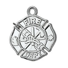 10Pcs Fire Dept Firefighter Charms Pendants Free Shipping Metal Wholesale