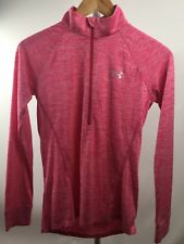Under Armour Shirt UA Tech 1/2 Zip Twist Pink Size XS Loose Fit 1270525 LS