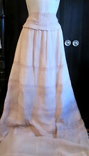 Anthropologie Candela Skirt Maxfield Silk Victorian Maxi Silk Lined sz.S NWT$575