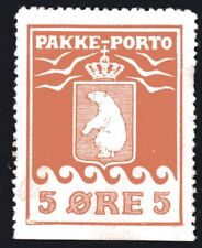 Greenland 1905 5 Ore Parcel Post Partial Gum Perf 12