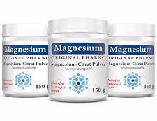 Magnesium-Citrat Pulver - 100% Magnesiumcitrat - Ohne Zusätze - 3 Dosen | 450 g