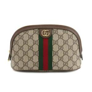 GUCCI GG Supreme Ophidia large cosmetic case Pouch Beige 625551 90129468