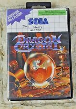 DRAGON CRYSTAL - Sega Master System Console Game VERY GOOD CONDITION complete
