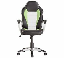 Home Office Gaming Chair Computer Desk Chair Padded Leather Curved Posture GREEN