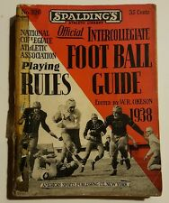 1938 Spalding's Official Intercollegiate Football Guide NCAA Rules WR Okeson