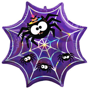 Halloween Cute Spider's Web Foil Balloon Family Friendly Party Decoration