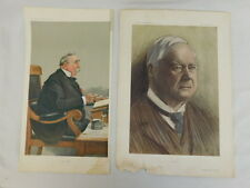 ANTIQUE VANITY FAIR CARICATURE PRINTS BY SPY & OWL 'LOREBURN' & 'NORTH LONDON'