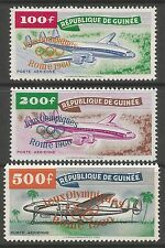 GUINEA 1960. Rome Olympics Ovpt on Airmail Set. SG: 250/52. Mint Lightly Hinged.