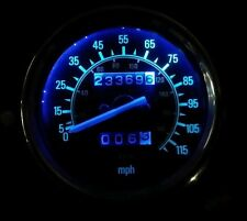 BLUE YAMAHA VIRAGO 535  led dash clock conversion kit lightenUPgrade