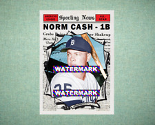 Norm Cash All Star Detroit Tigers 1961 Style Custom Baseball Art Card