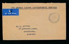 SIERRA LEONE 1965 OFFICIAL PHILATELIC P.O POSTMARK GOVT.SERVICE