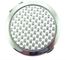 Crystallized 192 Makeup Compact Mirror Bejeweled Austrian Luxury Gem Collectible