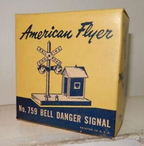 American Flyer 759 Bll Danger Signal Original Box & Insert OnlySolid, Very Clean