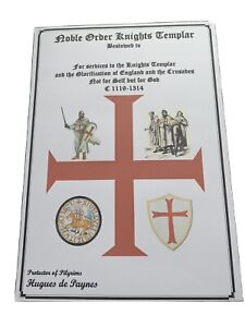 Noble Order Knights Templer Certificate