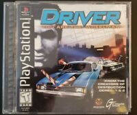 Driver (Sony PlayStation 1, 1999) Complete Game With Manual Original PS1 Game